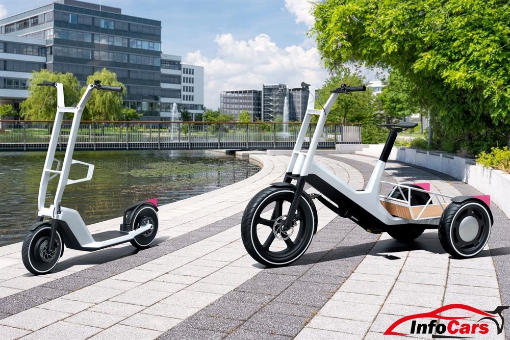 Bicicleta de carga y scooter eléctrico