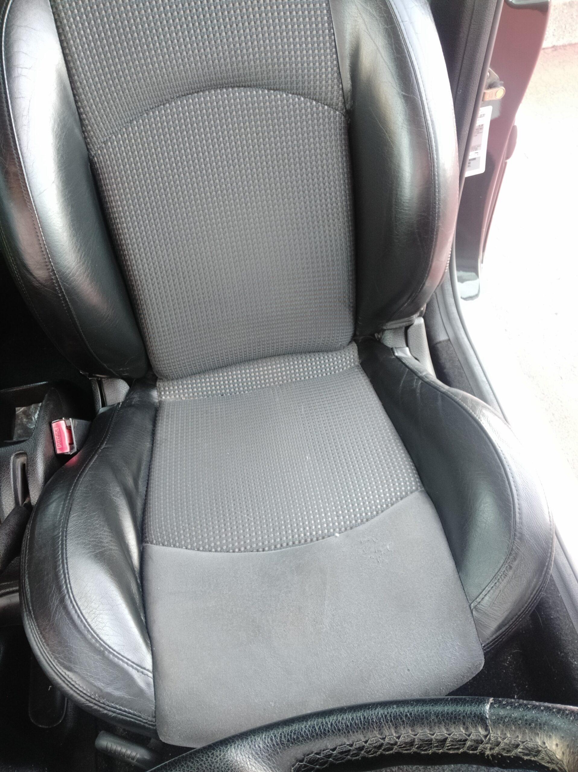 Estado fina de los asientos de cuero