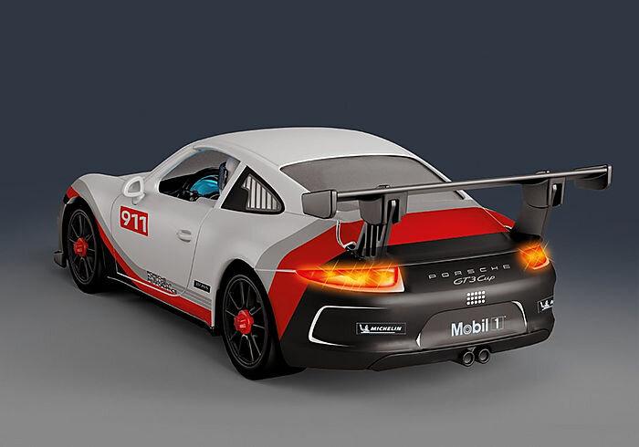 trasera del Porsche 911 GT3 Cup de playmovil